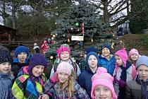Školáci přinesli dobroty zvířatům v ústecké zoo.