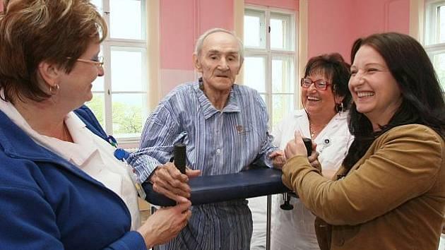 Bývalý boxer Bohumil Němeček v ústecké Masarykově nemocnici.