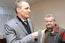 Poradce ministra financí Radek  Šnábl u ústeckého Krajského soudu.