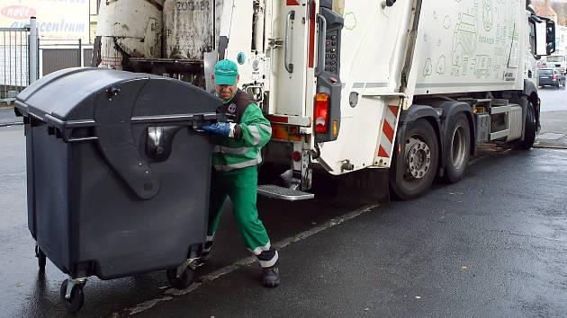 Svoz komunálního odpadu. Ilustrační foto.