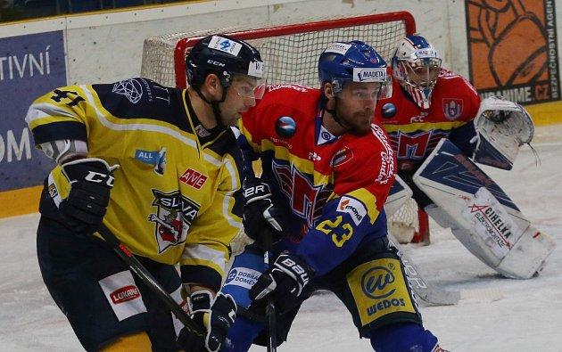 Hokejový zápas Ústí nad Labem a České Budějovice leden 2018