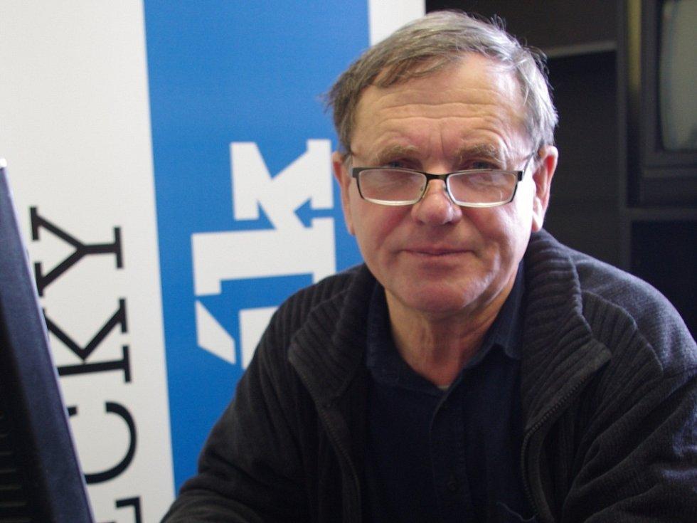 František Ledvinka při online rozhovoru v redakci Ústeckého deníku.