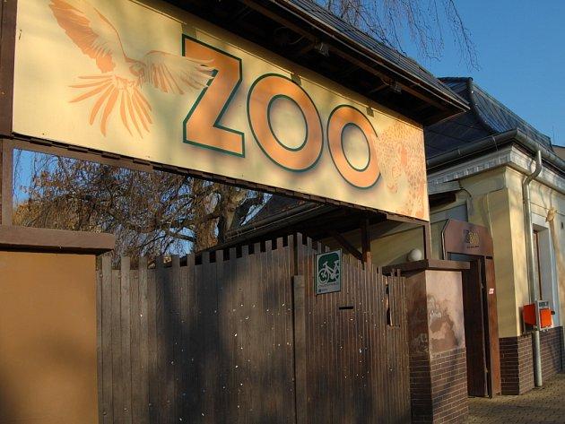 Dolní vstup do ústecké zoologické zahrady.