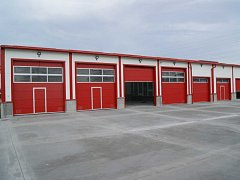 Nová hala hasičské stanice Ústí nad Labem - Všebořice