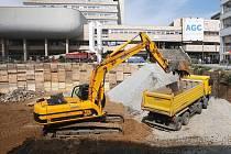 Stavba na ústeckém Mírovém náměstí