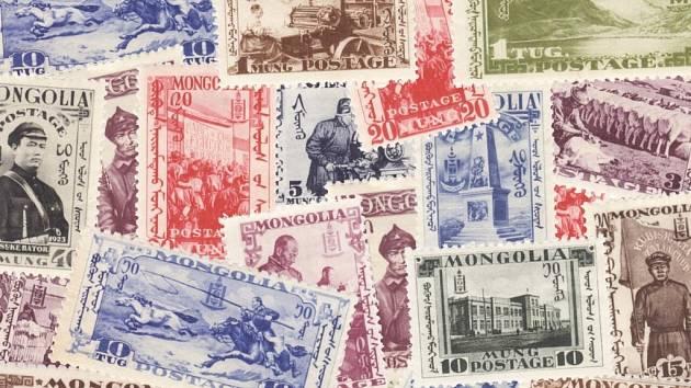 Mongolské známky.