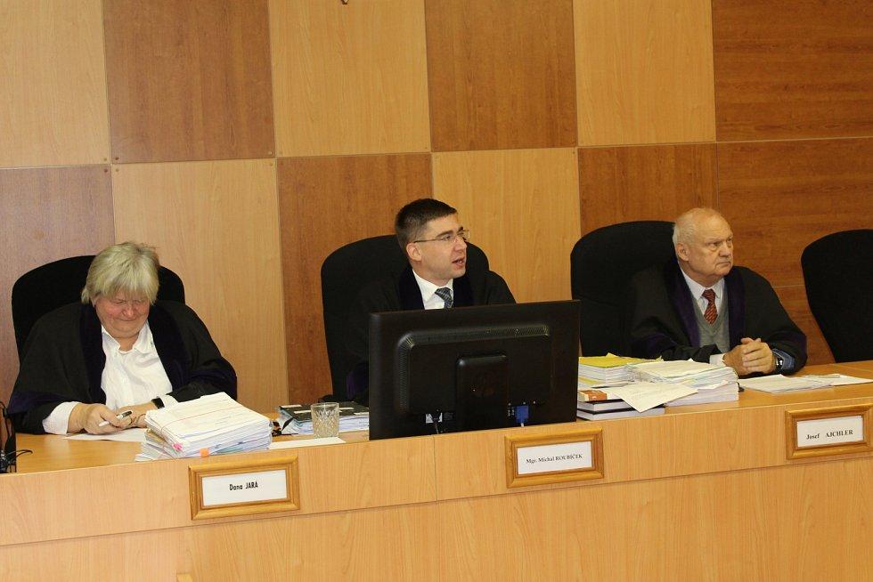 Hlavní líčení se konalo v nepřítomnosti obžalované Nikoly M., zastupovala ji obhájkyně Michaela Urbánková.