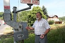 Starosta Telnice Jaroslav Doubrava u Kozí dráhy.