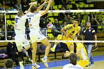 Volejbalisté Ústí přemohli Benátky a slaví první výhru v sezoně.