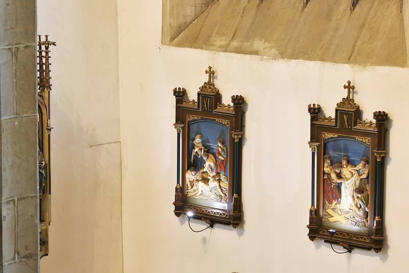 Noc kostelů v ústeckém kostele Nanebevzetí Panny Marie.