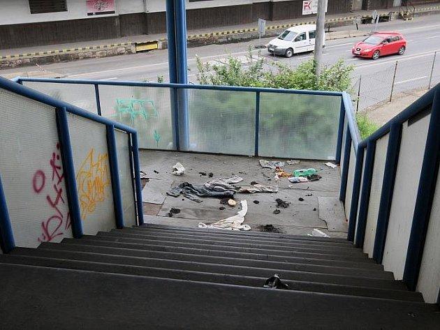 Ústecké autobusové nádraží.