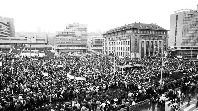 Listopad 1989 v Ústí nad Labem. Generální stávka.