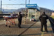 Zásah strážníků na hlavním nádraží v Ústí nad Labem
