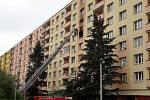 Požár bytu v domě na Severní Terase
