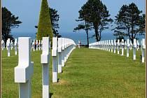 Americký hřbitov nad Omaha beach, Normandie, Francie. Místo, které zapůsobí na každého návštěvníka. Foto: Mirek P. Blažek, Peruc.