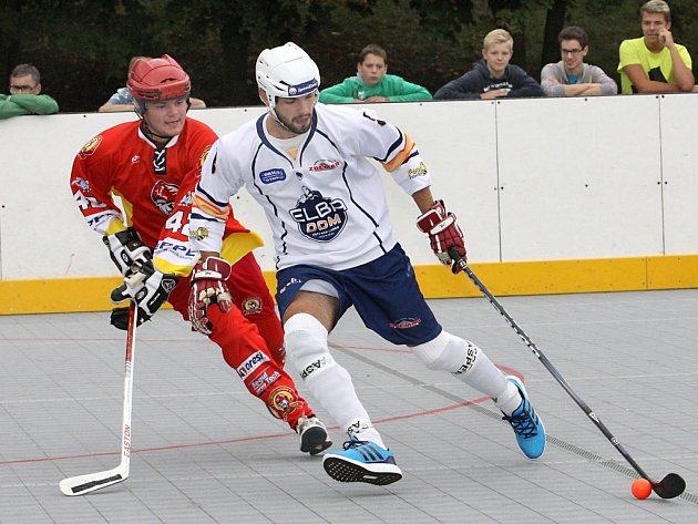 Útočník Lukáš Soukup je jednou z hlavních zbraní hokejbalistů ústecké Elby DDM v extraligové soutěži.