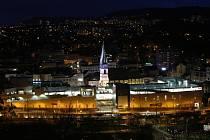 Noční foto Ústí nad Labem