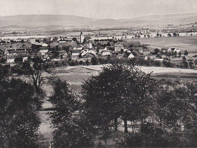Historický pohled na Roudníky.