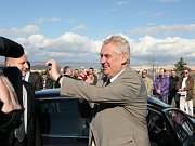 Návštěva prezidenta Miloše Zemana v Ústeckém kraji.