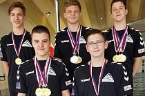 Ústečtí plavci vybojovali na MČR staršího žactva v domácí padesátce na Klíši řadu medailí.