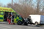K jedné z posledních nehod sanitky došlo v polovině února na periferii Ústí. Těžce byl zraněn pacient a středně dva záchranáři.