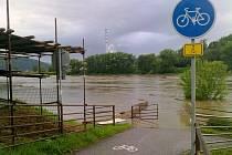 Voda ve Valtířově.