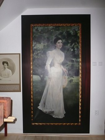 Kopie portrétu Elišky Dobrzenské Braganca ze zámku Chotěboř.