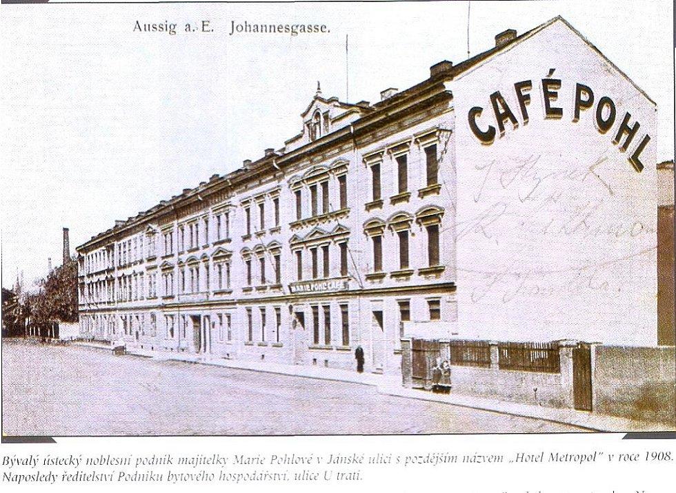 """Noblesní podnik majitelky Marie Pohlové """"Café Pohl""""."""