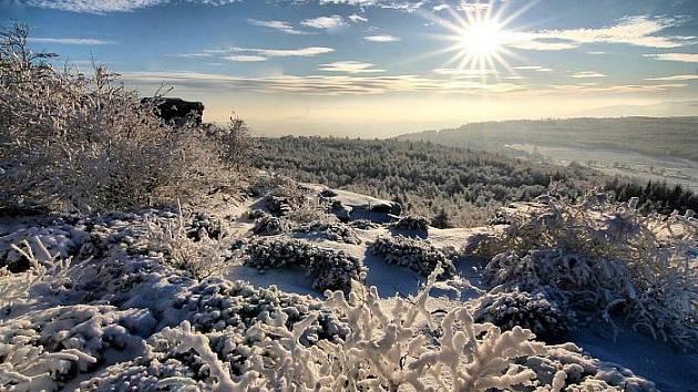 Zimní  romantika na Děčínském Sněžníku.