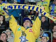 Fanoušci ústeckých hokejistů mají důvod k radosti. Jejich hrdinové si na ledě Kadaně zajistili postup do semifinále prvoligové soutěže.