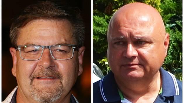 Hejtman Ústeckého kraje Jan Schiller (vlevo) a odvolaný předseda představenstva Krajské zdravotní Jindřich Zetek na archivních snímcích