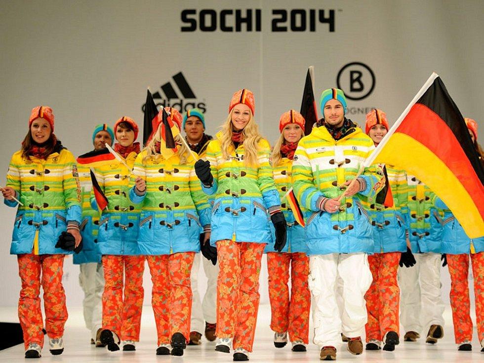Na duhové kolekci pro Němce spolupracoval návrhář Willy Bogner s firmami Adidas a Sioux.