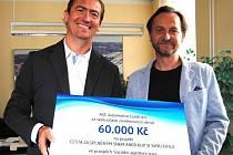 Předání finančního daru ve výši 60 tisíc Kč.
