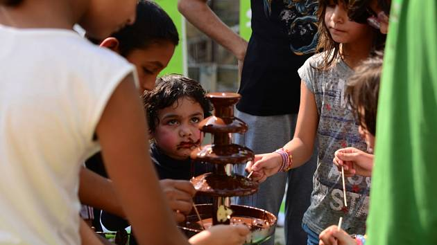 Fairtradová čokoláda tekla z fontánky.