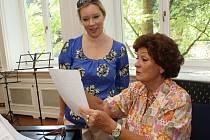 Proslulá operní pěvkyně Eva Randová ve městě opět pořádala mistrovské kurzy.
