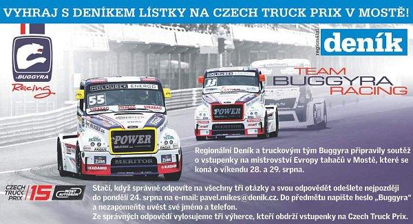 Vyhraj sDeníkem lístky na Czech Truck Prix vMostě