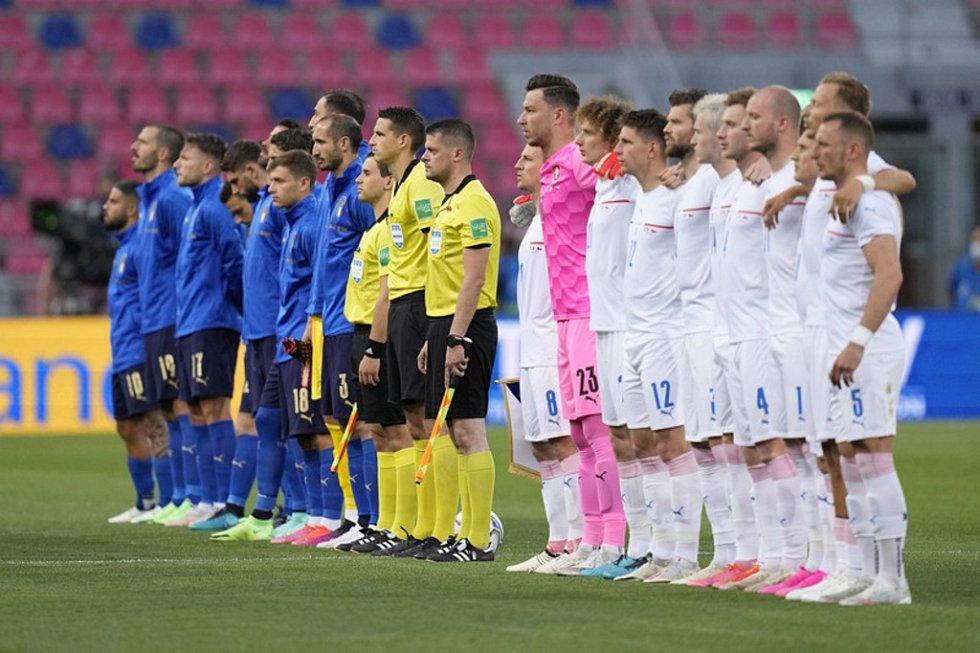 Přípravné utkání Itálie vs. Česko.