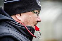 Trenér SC Blades Ústí nad Labem Milan Sahula.