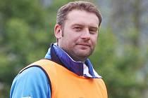 Trenér ústeckých fotbaslistů Svatopluk Habanec při tréninku.