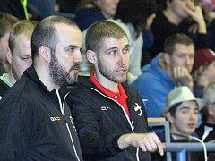 Novým trenérem florbalistů Ústí se stal dosavadní asistent Marek Vojta (vpravo).