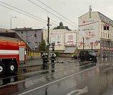Dopravní nehoda v centru Ústí.