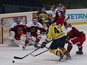 Hokejový zápas mezi Ústím nad Labem a Frýdkem Místkem.