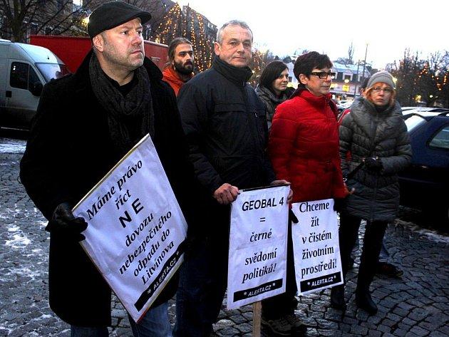 Z litvínovské demonstrace.