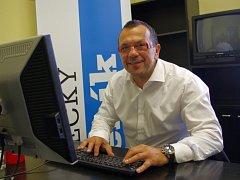 Jaroslav Foldyna (ČSSD) při online rozhovoru v redakci Deníku.