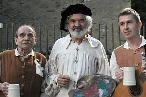 Slavné hudební duo Uhlíř (vlevo), Svěrák a Michal Novinski.