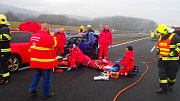 Dopravní nehoda na D8 u Radejčína.