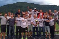 Fotbalisté SK Brná oslavili postup do krajského přeboru.