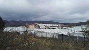 Vítr strhnul střechu Baumaxu v Ústí - Všebořicích.