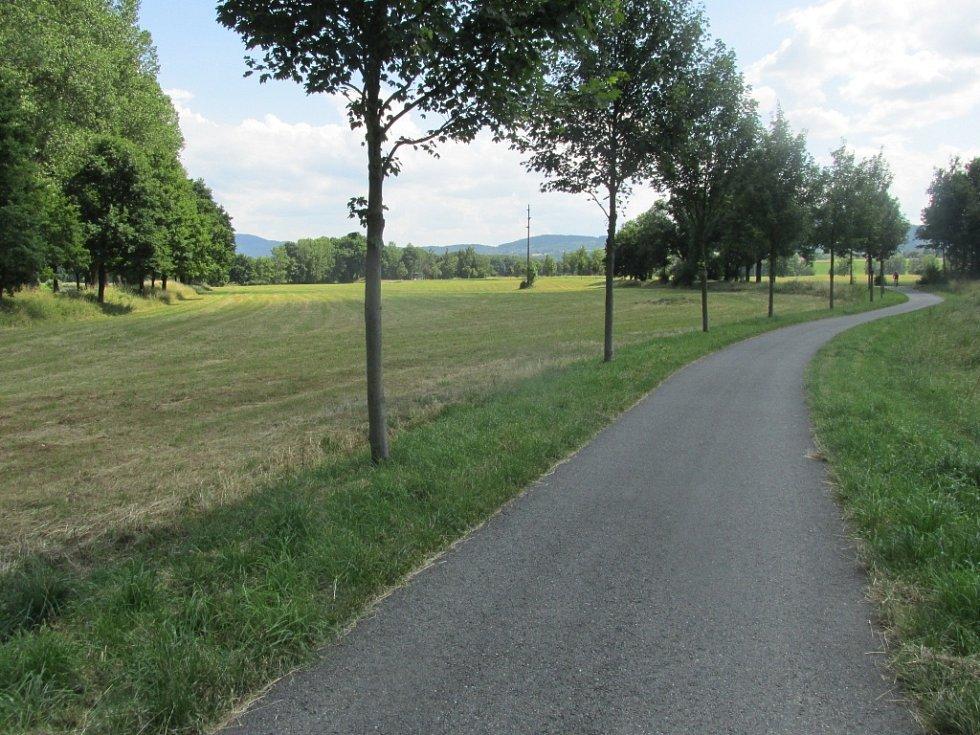 Rovina a jen sem tam převýšení  je předpokladem malé námahy pro cyklisty amatéry.