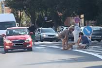 Čtvrteční nehoda na Střekově.